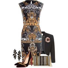 Untitled #2197 by jodilambdin on Polyvore featuring moda, Jacques Vert, Christian Louboutin and Lanvin