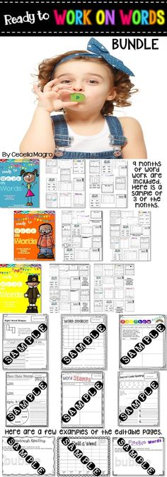 This BUNDLE has 337 pages of original first grade word work activities for the entire year that were carefully crafted with the first grader in mind. Modalities vary so students stay highly engaged. This bundle also includes EDITABLE sheets for you to create your own word work. All of the directions for editing are included!