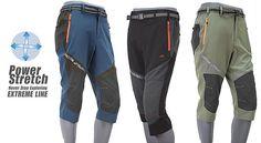 Coolmax Mens cropped Trekking Caving 3/4 climbing Pants Hiking trousers shorts