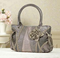 Metallic Rose Bag from Midnight Velvet®. Confident Style. Beautiful You. www.midnightvelvet.com