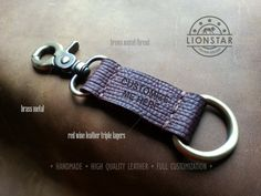 011 LIONSTARS Leather Keychain man gift husband by THELIONSTARS