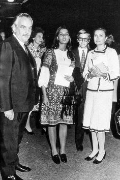with Rainier, Caroline and Albert