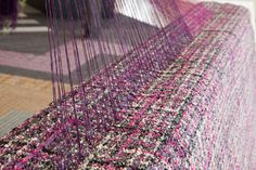 Art and interior design are blurring weaving installation at Melbourne Indesign - World Woven Collection