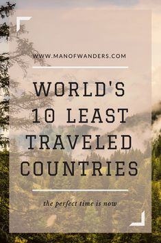 If you like the idea of traveling the off the beaten track destinations, here are among the world's least traveled countries that must be in your bucket list. Travel Advice, Travel Quotes, Travel Guide, Travel Ideas, Travel Goals, Group Travel, Family Travel, Oh The Places You'll Go, Places To Travel