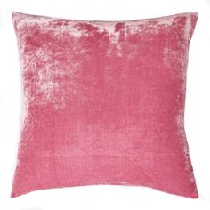 One Solid Pink Silk Velvet pillow cover: Very wonderful texture, silky and slinky to the touch. This delicate material looks puckered at the seams initially, but that flattens when the insert is added. This ad does not include the fringe trim. Pink Pillow Cases, Pink Cushion Covers, Yellow Pillow Covers, Pink Cushions, Yellow Pillows, Gold Pillows, Pink Velvet Pillow, Velvet Pillows, Pink Silk