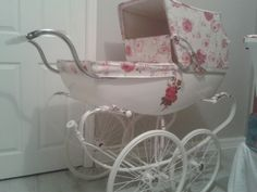 """A bassinet, bassinette, or cradle is a bed specifically for babies from birth to about four months, and small enough to provide a """"cocoon"""" that small babies find comforting. Landau Vintage, Vintage Pram, Pram Stroller, Baby Strollers, Silver Cross Prams, Boy Girl Room, Prams And Pushchairs, Baby Buggy, Dolls Prams"""