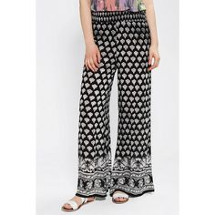 Staring At Stars Printed Wide-Leg Pant ($40) found on Polyvore