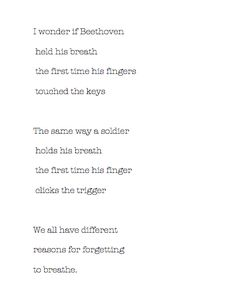 """Andrea Gibson. """"We all have different reasons for forgetting to breathe"""""""