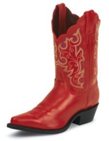 Justin Classic Western Cowgirl Boots - Snip Toe