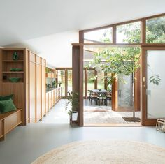 Interior Architecture, Interior And Exterior, Interior Design, Internal Courtyard, Modern Tiny House, Mid Century House, Victorian Homes, Home And Living, Living Room