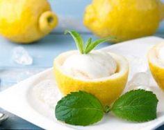 Sorbet au citron minceur sans sorbetière