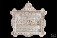 A Magnificent Large Carved and Engraved Mother of Pearl Diorama or Model depicting the Last Supper attributed to the Master Bichara AL-Zogbi E Hijos Workshop, Probably Made By Yusef Zogbi, Bethlehem, circa 1900