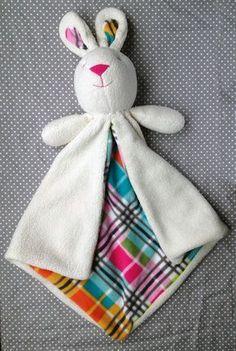 Bunny Lovey Baby Security Blanket | Craftsy