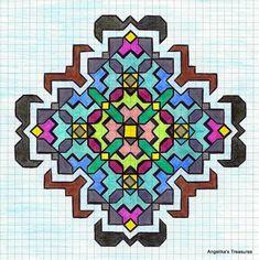 Angelika's Treasures: 5) Passer Tekeningen,Graph Paper Art