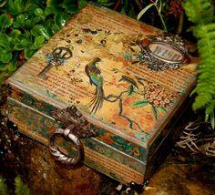 Vintage Decor Altered Wood Box