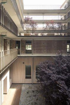 Koen van Velsen architecten Balcony Railing, Stair Railing, Railings, Architectural Pattern, Simple House Plans, Student House, Architecture Student, Senior Living, Stables