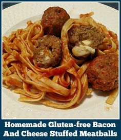 Gluten-free Bacon And Cheese Stuffed Meatballs - From Val's Kitchen