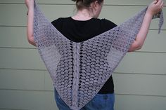 Rewound's Cable Panel Shawl