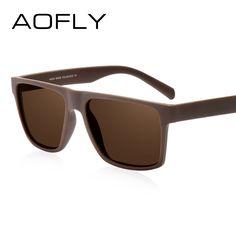AOFLY Walnut Wood Polarized  Men Handmade Driving Sun Glasses Goggle Retro Vintage Wooden Frame