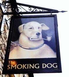The Smoking Dog pub in Malmesbury
