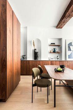 art deco home Wood Interior Design, Dining Room Design, Decor Interior Design, Cheap Home Decor, Home Decor, House Interior, Apartment Decor, Elle Decor, Diy Home Furniture