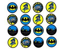 batman free printables | FREE Batman Cupcake Toppers