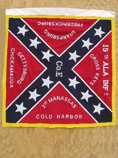 "15th Regiment Alabama Infantry   Confederate 15th Alabama Infantry Flag Sewn 51""x51"""