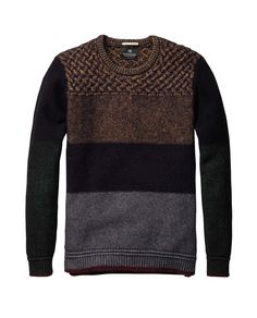 Colour Block Crew Neck Pull > Mens Clothing > Pullovers at Scotch & Soda