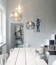 Rowan Ø 28 cm hanging lamp Ebb & Flow Dining Room Lamps, Bubble Chandelier, Natural Interior, The Way Home, Inspired Homes, Rowan, Pendant Lamp, Lamp Light, Lighting Design