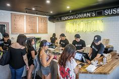 $$ Rolltation   LITTLE TOKYO: 207 Dundas St. W.   Sushi Burritos + Poke   Takeout Burritos + Bowls - Sushi, Beef, Pork, Chicken.   The IT food of the year.   BlogTO