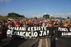 Mobilização Nacional Indígena em Brasília nesta terça (27/05). Foto: Kamikia Kisedje
