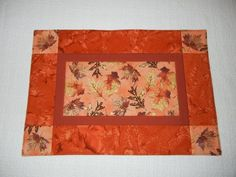 Quilted Falling Leaves Placemats, Set of Two