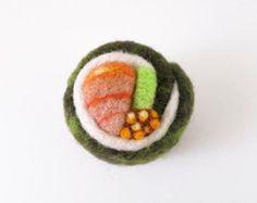 Needle Felted Ornament - Sushi