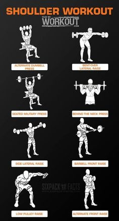 Shoulder Workout Training - Healthy Fitness Routine Arms Back Ab: