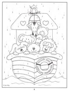 Noahs Ark Bible coloring page Bible Coloring Pages, Adult Coloring Pages, Coloring Books, Sunday School Crafts, Bible Crafts, Kids Church, Digi Stamps, Coloring Pages For Kids, Baby Quilts