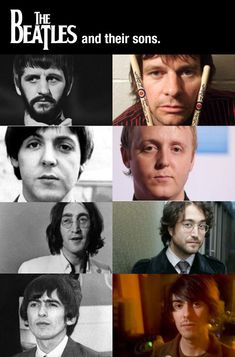 The Beatles and their sons. I swear, Danny looks exactly like George
