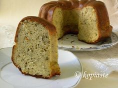 Cypriot Tyropita is a savoury cake which we make in Cyprus with halloui and mint.Tyropita pronounced ti-RO-pee-ta) means cheese from tyri and pie from pita. Savoury Baking, Savoury Cake, Savoury Pies, Sweet Loaf Recipe, Cyprus Food, Greek Appetizers, Cheesecake, Greek Sweets, Cheese Pies