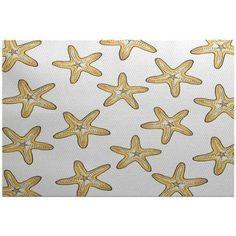 Simply Daisy 5' x 7' Soft Starfish Geometric Print Indoor Rug, Yellow
