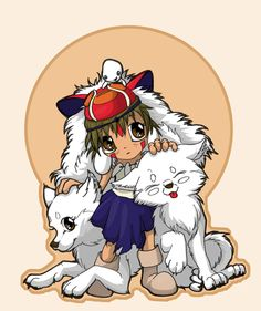 Chibi San and her Wolf Brothers