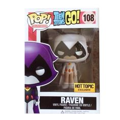 Raven (white Hot Topic exclusive variant) from Teen Titans Go! - Pop! television vinyl figure by Funko