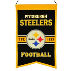 Pittsburgh Steelers Wool Franchise Banner