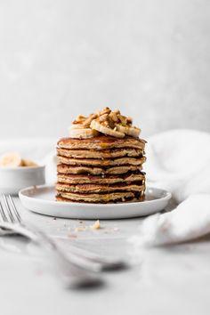 Breakfast Pancakes, Banana Pancakes, Pancakes And Waffles, Breakfast Recipes, Pancake Recipes, Gluten Free Pancakes, Good Food, Yummy Food, Brunch