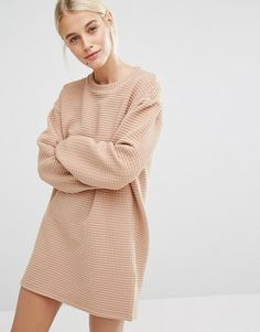 Buy Monki Oversized Ribbed Sweat Dress at ASOS. With free delivery and return options (Ts&Cs apply), online shopping has never been so easy. Get the latest trends with ASOS now. Latest Fashion Clothes, Love Fashion, Autumn Fashion, Fashion Online, Daytime Outfit, Sweat Dress, Tall Dresses, Oversized Dress, Embroidered Blouse