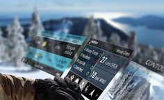Recon Snow2 Goggle. You may never stroll the city in Google glass but when you're shredding the slopes you may like the functions in Recon's Snow2 goggle with heads-up display. And nobody will know you're nerding out reading your speed, vertical drop, airtime, & distance. You can also sync it with your iOS or Android phone.