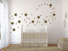 Stars Decal Star Wall Decals Shape Disney Magical Star Baby Room Twinkle Little Star Fairy Sparkle Stars Gold Metallic 2 sizes Star Decal Baby Bedroom, Baby Boy Rooms, Baby Boy Nurseries, Girls Bedroom, Bedrooms, Star Nursery, Girl Nursery Themes, Nursery Room, Nursery Ideas