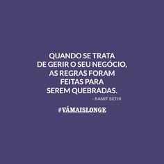 Como diz o Guilherme Machado quebre as regras! #QR  O que que falam que funciona e que você TEM que fazer mas não faz sentido pra você e você não se sente bem fazendo? Vá Mais Longe