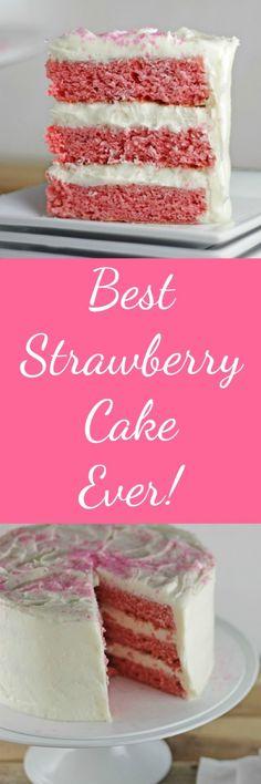 Best Strawberry Cake Ever RoseBakes