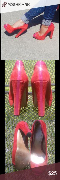 BCBGeneration heels BCBGeneration suede platform heels size 6 good condition BCBGeneration Shoes Platforms