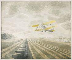 Tiger Moth 1942 by Eric Ravilious Design Art Drawing, Tiger Moth, Illustrators, Watercolor Art, Art Drawings, Poster Prints, Art Print, Fine Art, Abstract