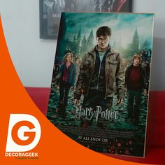 Póster de Cinema Original Harry Potter Reliquias de la Muerte Parte 2 version cinemas de USA. Compralo DecoraGeek.com